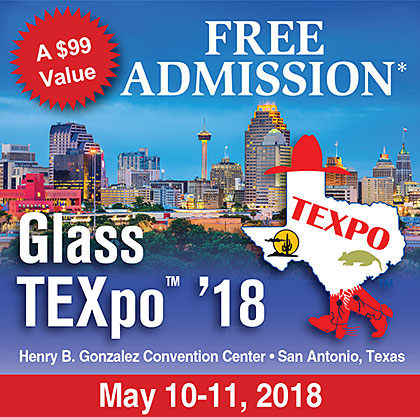 Free Admission to the Glass TEXpo 2018