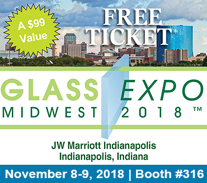 Free Admission to the Glass EXPO Midwest 2018