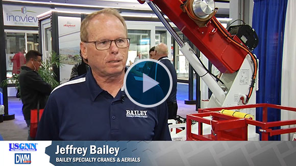 Video from GlassBuild America on Bailey Specialty Cranes and Aerials
