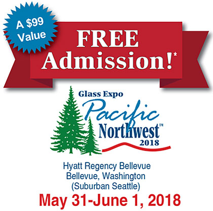Free Admission to the Glass Expo Pacific Northwest 2018