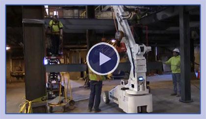 Steel Construction Using The Brandon 6 Telehandler Winch