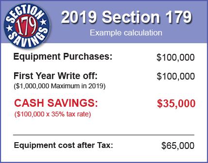 Section 179 Savings Chart