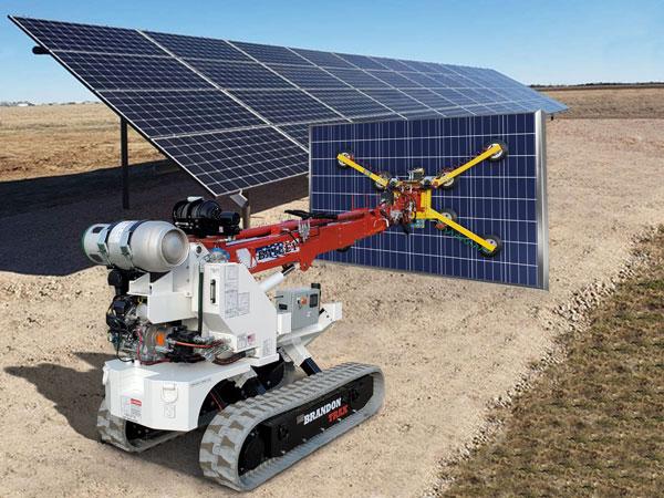 Brandon Trax Installing Solar Panels