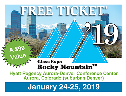 Free Admission to the Glass Expo Rocky Mountain 2019