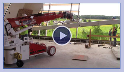 The Brandon 6 Telehandler Installing Window Frame Mullion