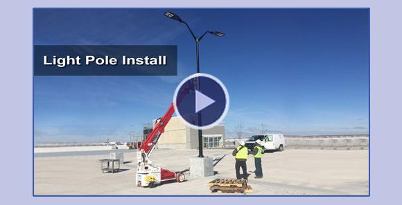 The Brandon 6 Installs  Light Poles