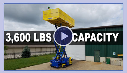 3,600 lbs Capacity Scissor Lifter